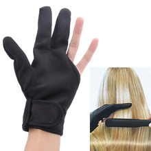 Hairdressing Three Fingers Glove Heat Resistant Hair Straightening Curling Finger Glove Styling hairdressing Accessories(China)