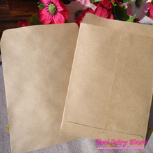 9x12.5cm Vintage Blank Kraft Envelope, Plain Envelope, Mini Plain Kraft Bag Mini Paper Party Gift Bag 100pcs/lot Free shipping(Hong Kong)