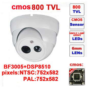 Free shipping infrared ccd other 800tvl cctv camera dome with ir-cut single lamp array indoor security demo<br>