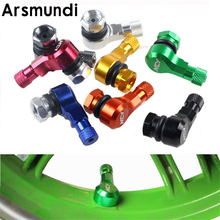 2Pcs Motorcycle Car Truck 11.3mm CNC Aluminum Wheels Tyre Tire Valve Stem Cap 90 Degree fit for Honda Yamaha Kawasaki Suzuki ATV(China)