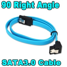 Kebidu 4pcs/lot Super Speed 50CM Straight 90 Right Angle SATA 3.0 Cable 6GB SATA III Cable Flat Data Cord for HDD SSD Wholesale