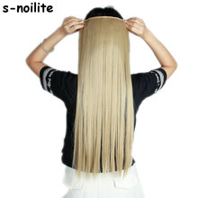 58-76CM Long Women Lady Straight Real Thick 150G 3/4 Full Head Clip in Hair Extensions One Piece Synthetic Fiber