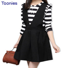 2017 Autumn Children Clothing Sets Sweet Princess Girl Costumes Striped Sports Wear School Uniform Suit Toddler Two Suits 4~12Y(China)