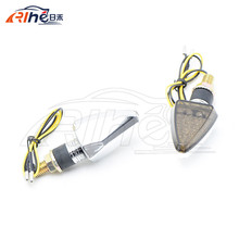 smoking lens  silver housing Motorcycle Led Turn Signals Blinker Light Indicators Flash 2 lens colors for option