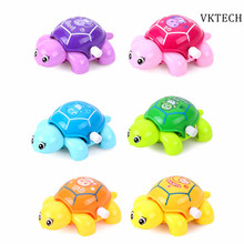 1pcs Mini Clockwork Toy Baby Tortoise Children Cute Animal Turtle Baby Wind Up Toys for Children Kids Random Color(China)