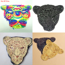 15pcs Tiger Leopard parches bordados Mix Sewing Patches Embroidery Jeans Jacket Patch For Clothing Fabric Stage Badge Appliques