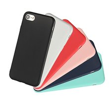 Ultra Thin Soft Silicone Candy Color Back Cover Case For iPhone 7 6 6S Plus Slim Rubber Skin Gel Coque For iPhone 6 7 Plus Cover