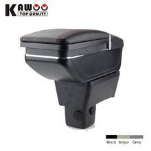 KAWOO For SUZUKI Swift PU Leather Car Armrest Box Central Store Content Box With Cup Holder Ashtray Interior Accessories Styling
