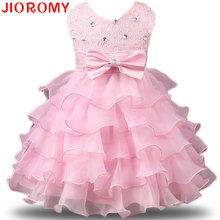 2017 Kids Prom Party Gowns Designs Children Clothes Kids Formal Dresses for Girls Wedding Lace Tulle Christmas Dress for Girl(China)