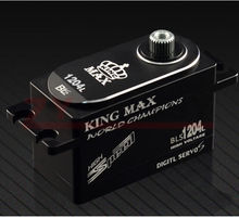 KINGMAX BLS1204L FULL CNC ALUMINIUM CASES LOW PROFILE HV DIGITAL BRUSHLESS SERVO for rc airplane(China)