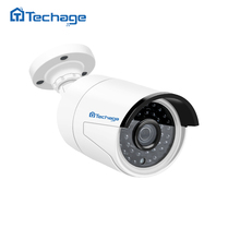 Techage H.265 25FPS 4MP HD 48V POE IP Camera 2592*1520 Outdoor Waterproof P2P ONVIF CCTV Security Surveillance Camera APP View(China)