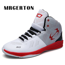 Basketball Shoes For Men Athletic Breathable Outdoor Kid Sneakers  Resistant Non-slip Mid Upper Sports Training Shoes MR31501