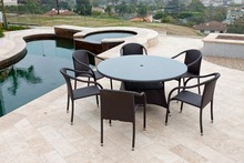 2017 Outdoor Rattan Furniture 7Pcs dining round table and chair set