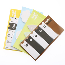 4 pieces Kawai Yiyun Cute Animals Forest Leaves Mini Note Paper Mark Stickers Labels Office Supplies Learning Supplies