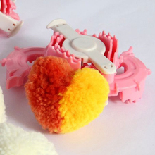 1pc Essential Heart Shape Pom Pom Maker Kids Cloths Knitting Loom Yarn Sewing Tool(China)