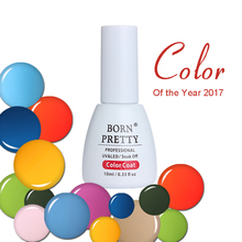 BORN PRETTY 10ml Soak Off UV Gel Color Coat Base Coat Top Coat 10 Colors Lapis Blue Primrose Flame Hazelnut Nail Art Gel Polish(China)