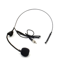 Free Shipping Black Screw Thread Lock 3.5mm Plug Ear Hook Headworn Headset Microphone Mic Mike For Wireless BodyPack Transmitter(China)