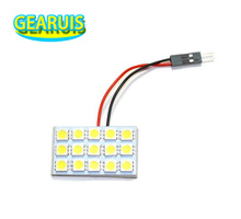 100set Festoon T10 BA9S Dome Panel 15 SMD 5050 LED 3 * 5 15SMD Interior Map Roof Reading Woking light lamp 12V with 3 Adapter(China)