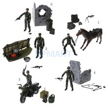 1/18 Military Figures Modern Police Soldier Models with Movable Joints Shows Scenes and Posture