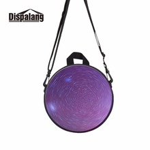 Dispalang galaxy stars print small round bag for kids purple mini rucksack for little girls ultralight backpack for preschoolers