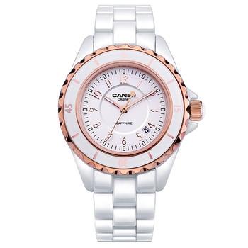 Marca de lujo de pulsera relojes de las mujeres deslumbran belleza espacio casima cerámica cuarzo de las muchachas mujer blanca #6702