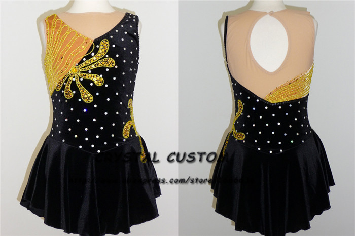 Figure Skating Dresses Custom Adult Graceful New Brand Ice Skating Dresses For Competition DR4465