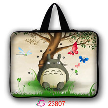 Totoro Neoprene Laptop Bag For Notebook Netbook Sleeve Cases Tablet Pouch For 10 13 15 17 inch Mini Computer Briefcase LB-23807