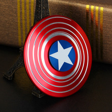 2017 New Arrival Fidget Spinner Toy Captain America Shield Metal Finger Spinner Anti-stress Mini Action Figures Hand Spiner