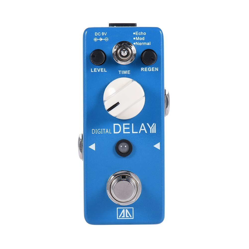 AROMA APE-5 Digital Delay Guitar Pedal 3 Modes Guitar Effect Pedal Aluminum Alloy Body True Bypass Guitar Parts &amp; Accessories<br>
