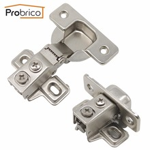 Probrico Soft Close Clip on Kitchen Concealed 1/2 Overlay Door Hinges Furniture Cabinet Hinges With Screws CHU1-2