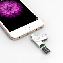 Mini Metal Micro SD TF Card Reader USB 2.0 microsd card reader iPhone 5 5s 6 6s 7 plus iPad air pro/PC/Mac/computer