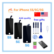 1pcs AAA Quality with No Dead Pixel mobile phone display for iphone 5s 5 5c 4 4s lcd touch screen Digitizer Assembly Replacement