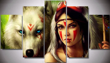 Needlework diy diamond painting cross stitch kits full resin square diamond embroidery Mosaic Home Decor American Indian wolf