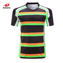 Hot sale Sublimation printing colorful Men's Rugby jersey custom personalized american football jersey maillot rugby