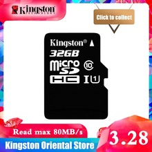 100% D'origine Kingston Micro SD carte 16 GB 32 GB 64 GO MicroSD Carte Mémoire Class10 TF Carte MicroSDHC UHS-1 pour Smartphone(China)