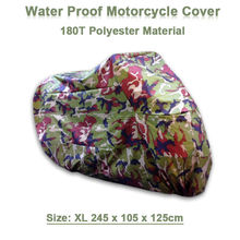 XL 245*105*125 cm Motorcycle Covering Waterproof Dustproof Scooter Cover UV resistant Heavy Racing Bike Cover Camouflage D10