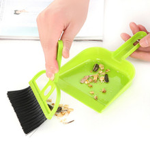 1PCS Colorful mini Multifunctional  Desktop Computer Keyboard Clean Sweep  Dust Small Broom Brush Set With Dustpan Shovel