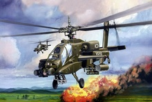 Living room home wall modern art decor wood frame posters AH 64 AE helicopter army military weapon QX019(China)