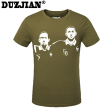 DUZJIAN 2016 World Cup French Franck Ribery men's T-shirt t-shirt man t shirt summer maillot de foot compression shirt