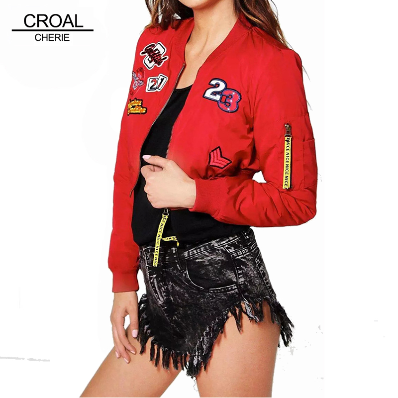 S M L Fashion Short Style Winter Jacket Women Cute Label Bomber Jacket Letter Warm Winter Cotton Coat Female Red ClothingОдежда и ак�е��уары<br><br><br>Aliexpress