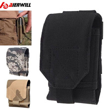 Outdoor Universal Running Phone Case Bag Under 6 inch Sport pouch Belt Tactical Military Molle Hip Waist Belt For iphone 7 7plus(China)