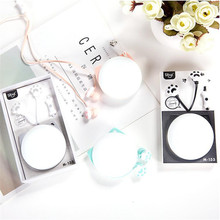 Lovely Daugther Christmas Earphones Cat Claw Music Earphone Cartoon Wired Headphones Earbuds For Xiaomi Iphone 6S Samsumg(China)