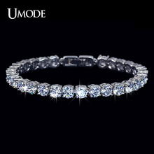 Buy UMODE Charm AAA+ Round 0.5 carat Cubic Zirconia Tennis Bracelet Woman Pulseira Classic Wedding Jewelry Lady Bracelet UB0021 for $7.63 in AliExpress store