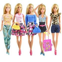 Новейшая Высококачественная кукольная одежда модные вечерние костюмы Повседневное платье красивая юбка для куклы Барби аксессуары для де...