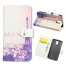 Cartoon Printed PU Leather Case For HTC Desire 326G / Desire 526 526G dual sim 526G+ Flip Cover Wallet Stand Phone Bag