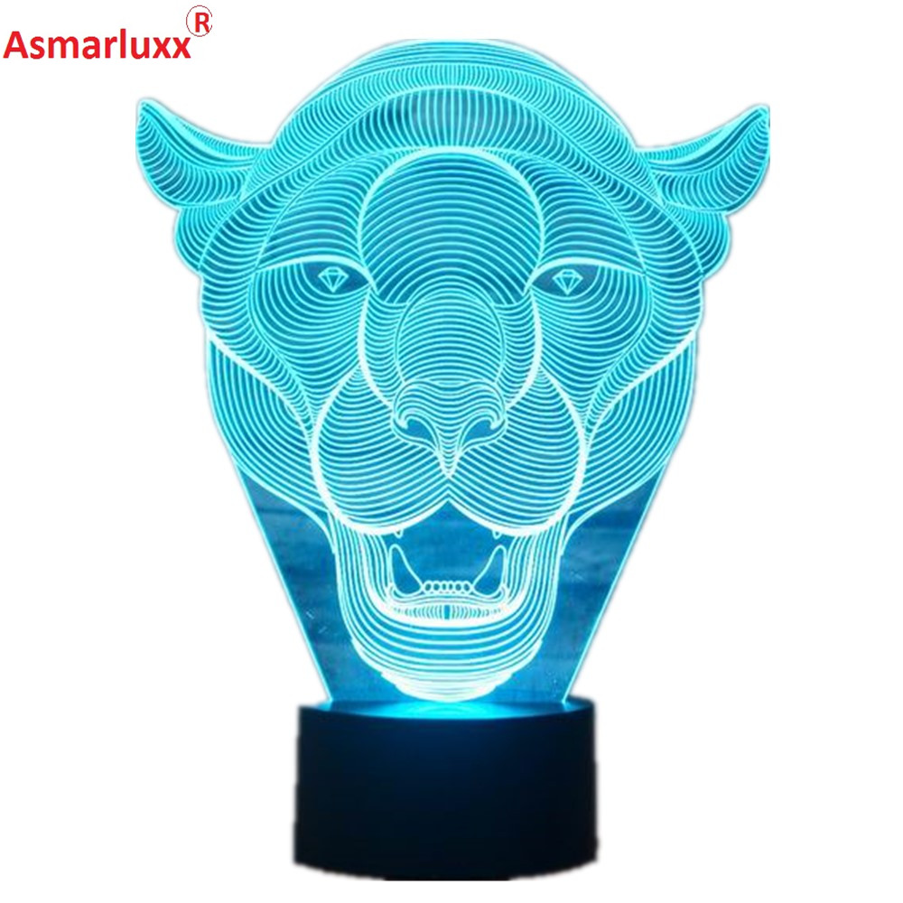 Lion Face 3D LED Light 4_
