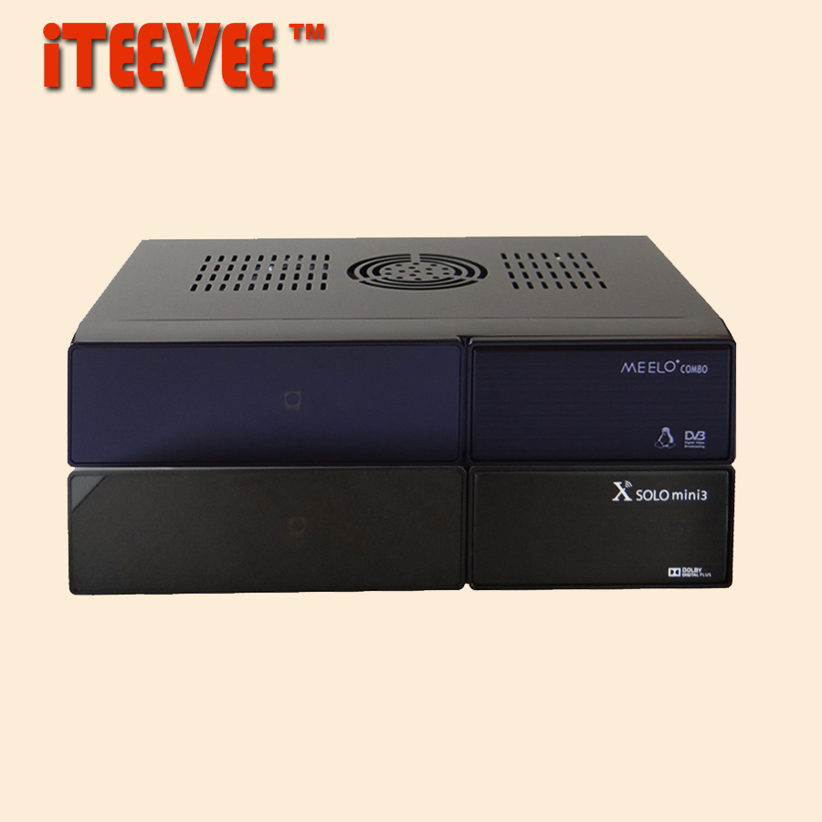 MEELO COMBO X SOLO MINI 3 mini3 Dual DMIPS Processor HD 1080P Satellite Receiver 4GB Serial Flash DVB-S2+DVB-T2/C DVB S2 T2(China (Mainland))