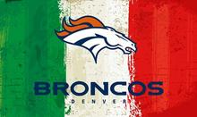 Green white red Stripes Denver Broncos flag 3ftx5ft Banner 100D Polyester Flag metal Grommets 19510(China)