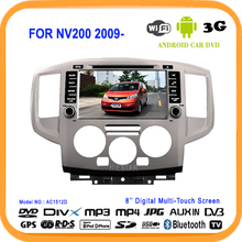 Navigator RDS Car DVD Radio Player GPS 1024*600 Touch Screen HD 8'' Android 5.1 WIFI Quad Band TV RDS BT for NISSAN NV200 2009