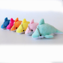 Kawaii Mini 10CM Dolphin Stuffed key chain Pendant TOY DOLL Wedding Gift Bouquet Decor Plush DOLL TOY Accessories Toys(China)